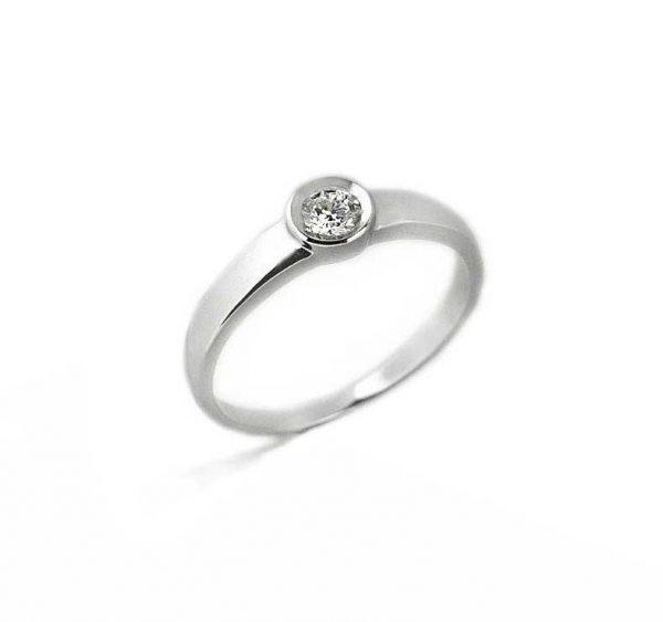 48dc0e330e99 Anillo oro blanco con diamante - Jose Luis Joyero