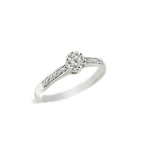 295a044b69cc Anillo oro blanco con diamantes - Jose Luis Joyero