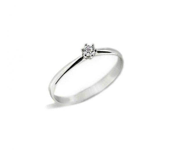294ebe1896ad Anillo oro blanco con diamante 6 Garras - Jose Luis Joyero