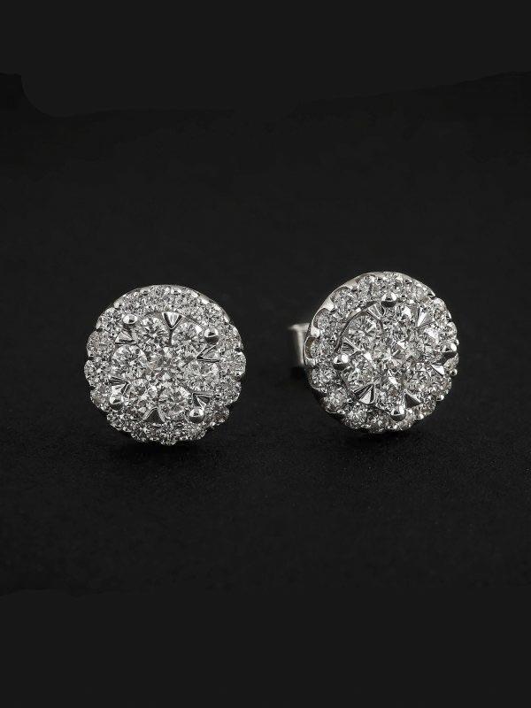 1ea21a594330 Pendientes oro blanco 1 QUILATE de diamantes - Jose Luis Joyero