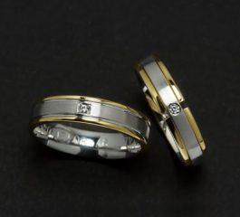 Alianzas oro 18 Ktes con diamantes Jose Luis Joyero Malaga