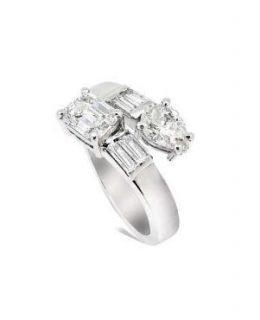 Anillo tu y yo oro blanco con diamantes Joyeria Jose Luis Joyero Malaga