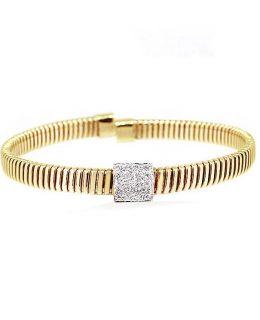 Pulsera oro 18 Ktes con diamantes Jose Luis Joyero Malaga