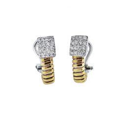 Pendientes oro rosa 18 Ktes con diamantes Jose Luis Joyero Malaga