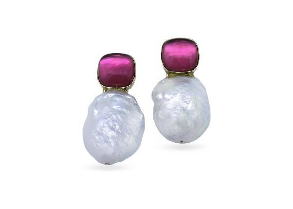 5679f3d4d092 Pendientes oro con perlas y cuarzos - Jose Luis Joyero