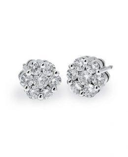 Pendientes oro blanco 18 Ktes con diamantes Jose Luis Joyero Malaga