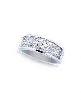 Sortija compromiso oro blanco 18 Ktes con diamantes Jose Luis Joyero Malaga