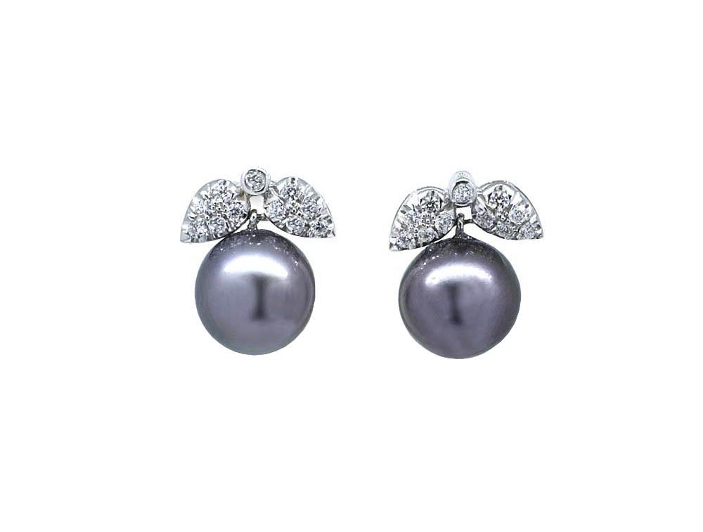 7a027220014a Pendientes oro blanco perlas Tahiti y diamantes - Jose Luis Joyero
