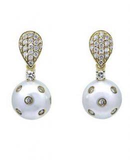Pendientes oro rosa con perlas y diamantes Joyeria Jose Luis Joyero Malaga