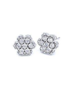 Pendientes oro blanco diamantes Joyeria Jose Luis Joyero Malaga