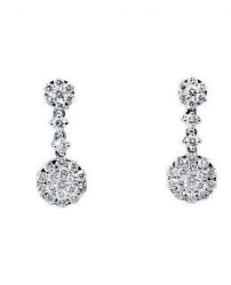 Pendientes oro blanco diamantes novia Joyeria Jose Luis Joyero Malaga
