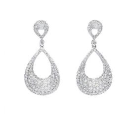 Pendientes oro blanco y diamantes Joyeria Jose Luis Joyero Malaga