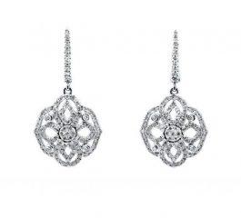 Pendientes oro blanco y diamantes novia Joyeria Jose Luis Joyero Malaga