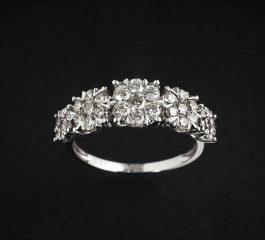 Sortija oro blanco y diamantes Joyeria Jose Luis Joyero Malaga