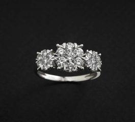 Sortija oro blanco y diamantes One Carat Joyeria Jose Luis Joyero Malaga