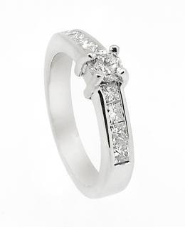 Stja. oro blanco 18ktes.con diamantes